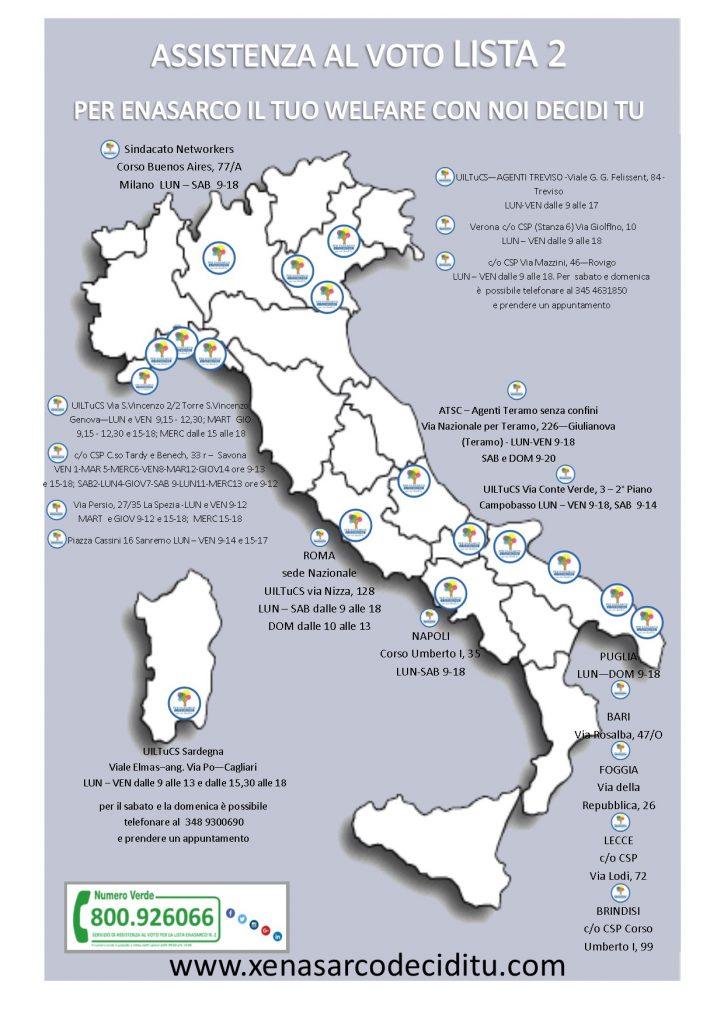 Elezioni Enasarco: la mappa degli uffici per l'assistenza al voto